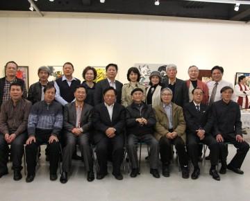 中華全國台聯及台聲雜誌訪問團拜訪中部美協於凡亞典藏館